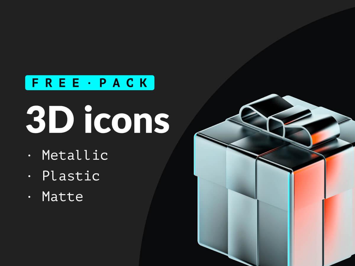 Metallic 3D Icons