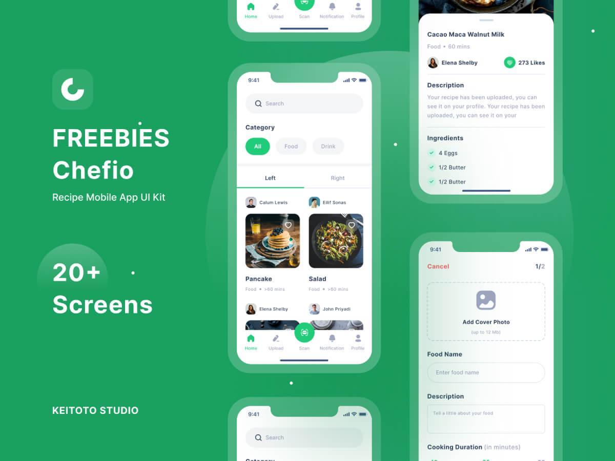 Recipe App UI Kit