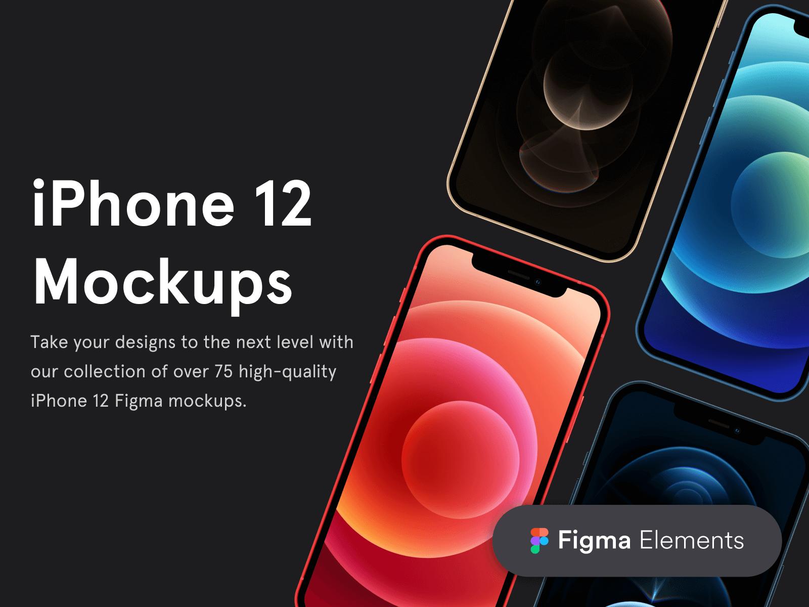 iPhone 12 Figma Mockups
