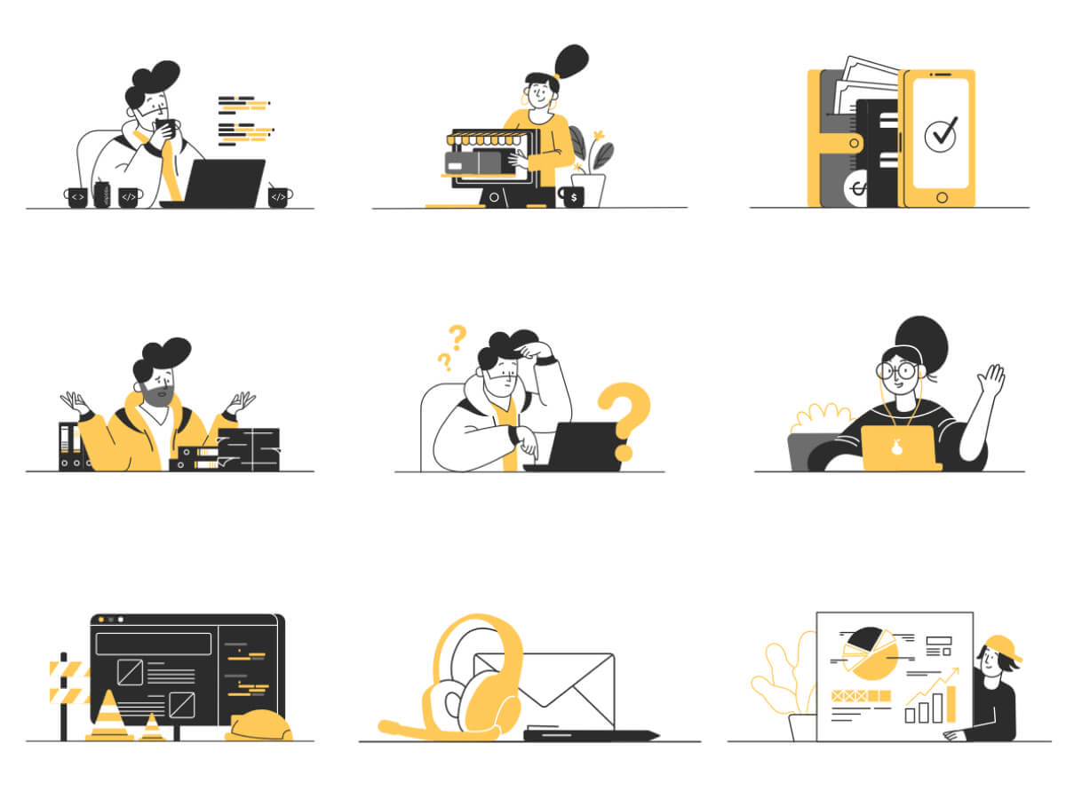 Multipurpose Illustrations