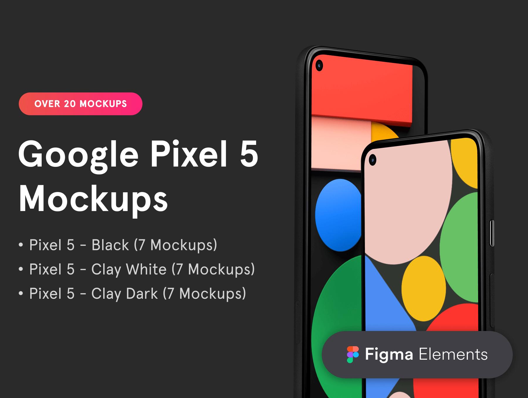 Google Pixel 5 Figma Mockups