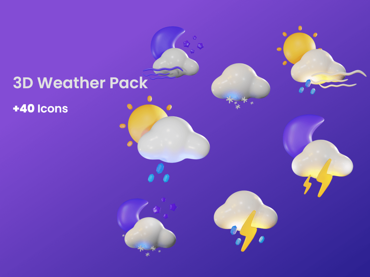 3D Weather Icons Pack for Figma