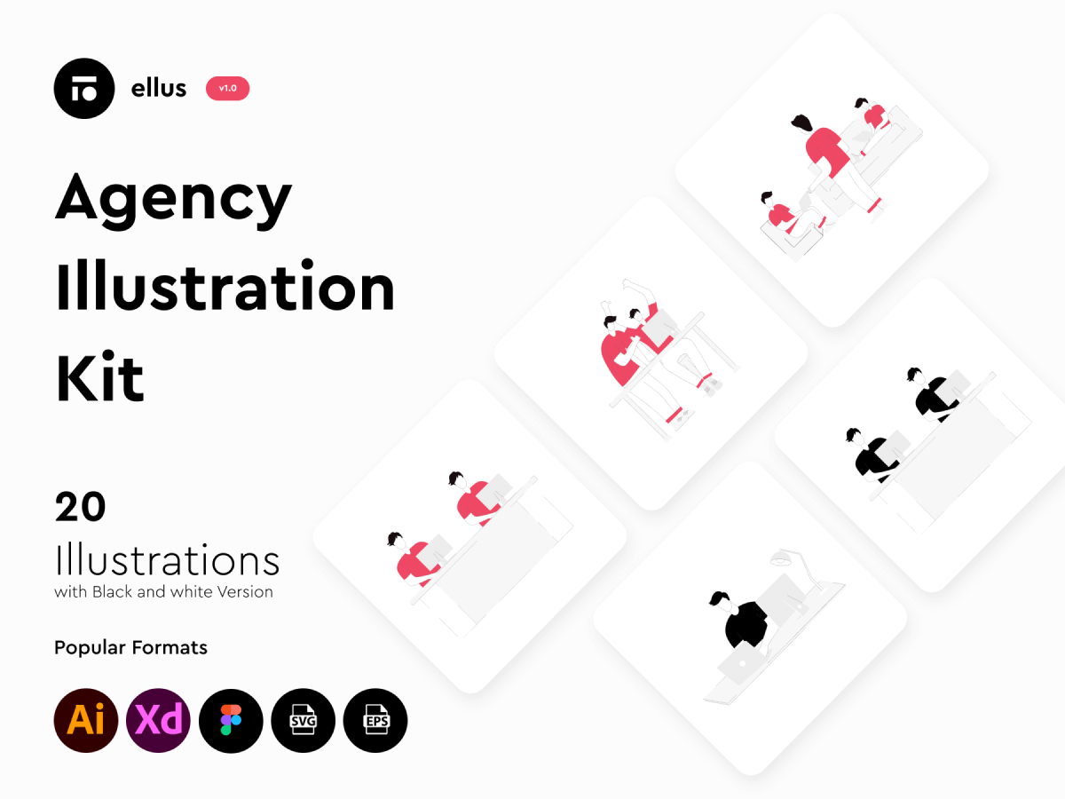 Figma Agency Illustration Kit