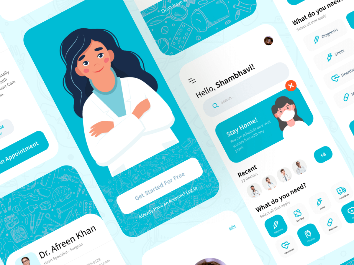Doctor Appointment Figma App UI Kit