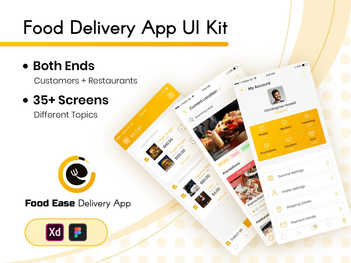 Figma Food Delivery Mobile App UI Kit