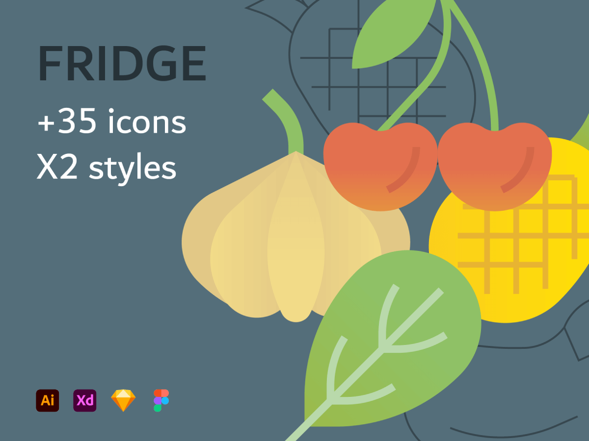 Fruit and Vegetables Figma Icons