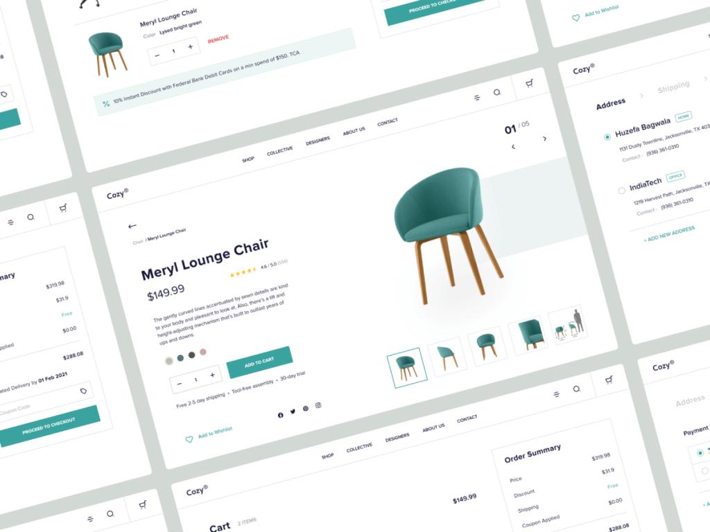 Furniture Store E-commerce UI Kit