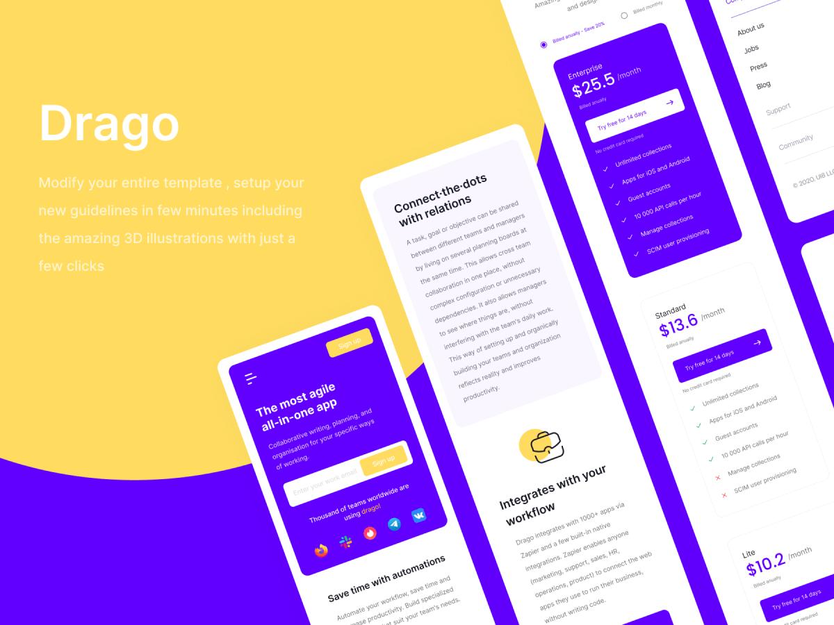 Landing Page Componentes Figma UI Kit