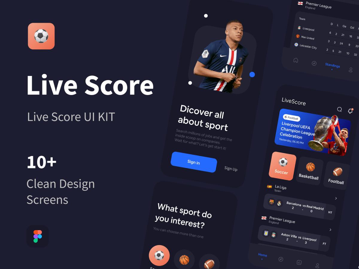 Live Sports Figma UI Kit