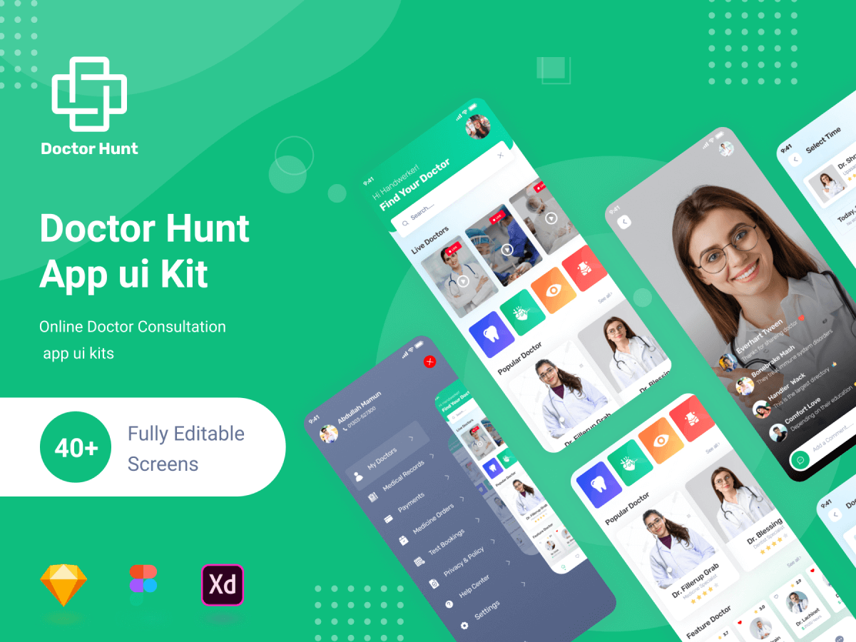 Doctor Consultant Figma Mobile App