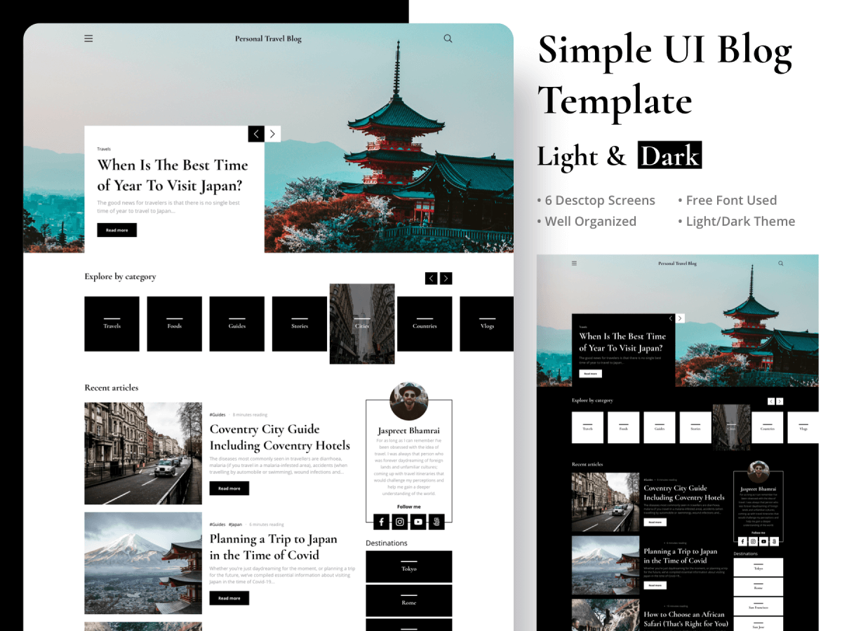 Simple UI Blog Figma Template