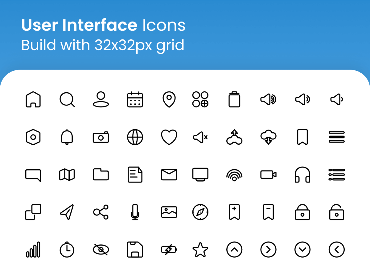 User Interface Icons for Figma