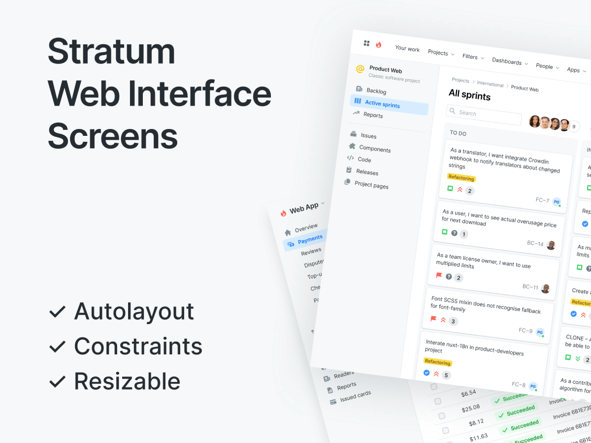 Web Interface Screens Figma UI Kit
